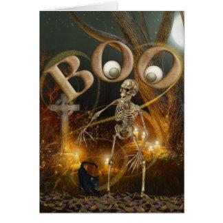 Skeleton und ernstes Halloween Grußkarte