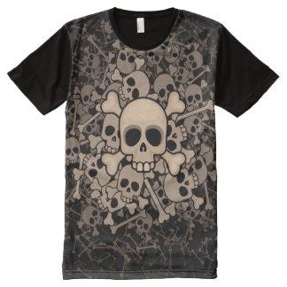 Skeletons T-Shirt Mit Bedruckbarer Vorderseite