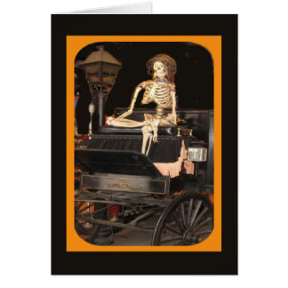Skelett an Bord Grußkarte
