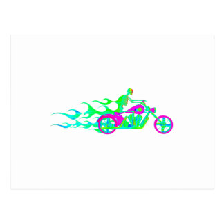 Skelett auf einem Motorrad Postkarten