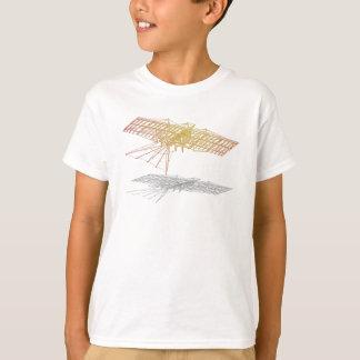 Skelett eines Flugzeug T-Shirt