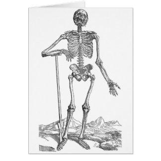 Skelett Grußkarte