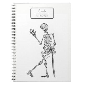 Skelett Notizblock