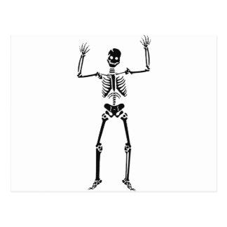 Skelett Postkarte