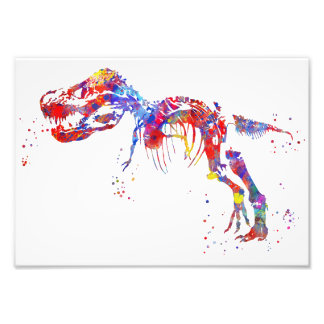 Skelett T Rex Fotodruck