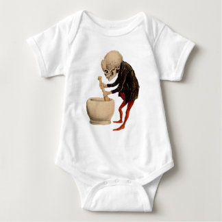 Skelettartige Apotheke Baby Strampler