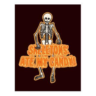Skelette aßen meine Süßigkeit Postkarte