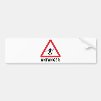 Ski Anfänger Warnschild Ikone Autoaufkleber