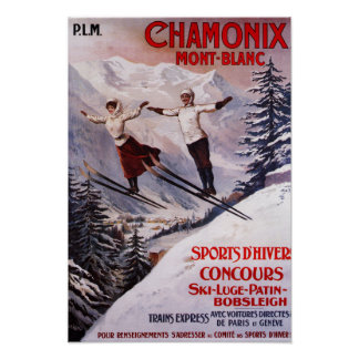 Ski fahrendes förderndes Plakat