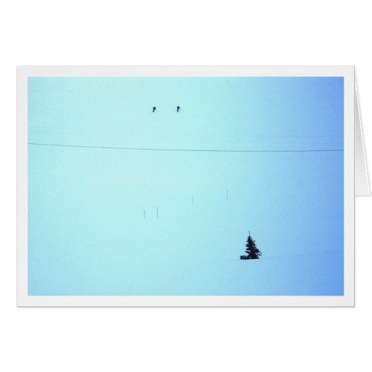 Ski-Jahreszeit Grußkarte