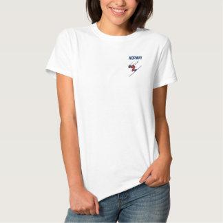 Ski Norwegen fertigen Sport besonders an Besticktes T-Shirt
