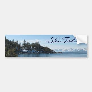 Ski Tahoe, Neigungs-Dorf in Lake Tahoe Autoaufkleber
