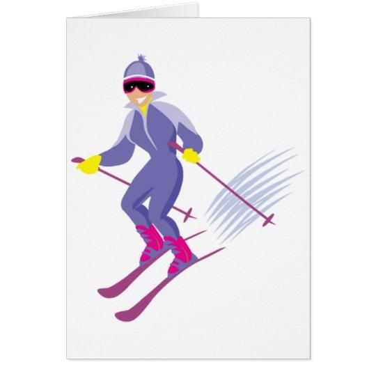 Skifahren-Mitteilungskarten Karte