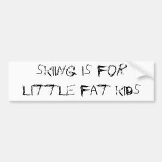 skiing is for fat little kids autocollant de voiture
