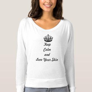 """Skincare Liebhaber """"behalten Ruhe und Liebe Ihre T-shirt"""