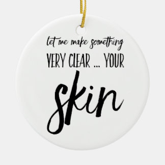 Skincare Weihnachtsverzierungs-Geschenkgeschenk Keramik Ornament
