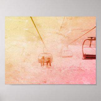 Skisnowboard-buntes abstraktes Plakat