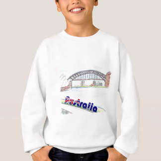 Skizze - australischer Hafen Sweatshirt