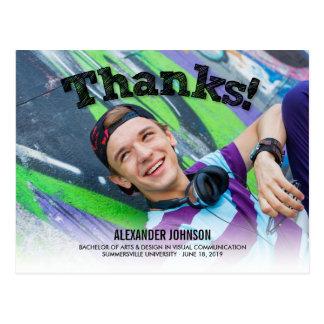 Skizze-Dank-Foto-Abschluss danken Ihnen Postkarte