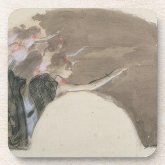 Skizze Edgar Degass | für einen Fan, c.1879 Untersetzer