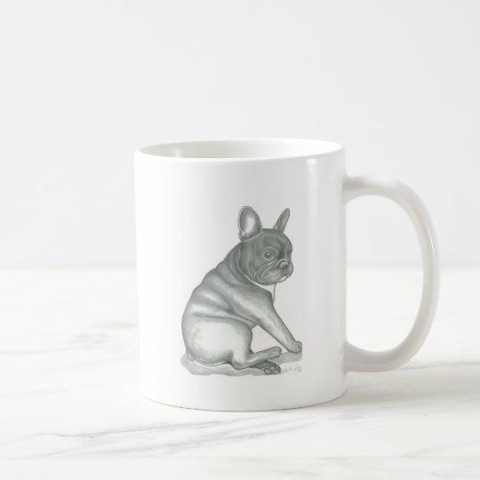 Skizze-Tasse der französischen Bulldogge Kaffeetasse