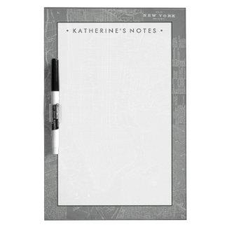 Skizze von New- York Citykarte Whiteboards