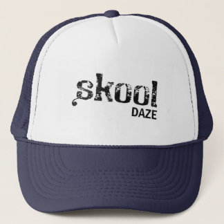 Skool Benommenheits-Blau Truckerkappe