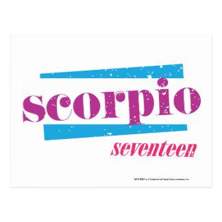 Skorpion lila postkarte