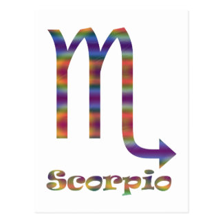 Skorpion psychedelisch postkarte