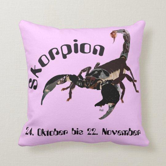 Skorpion - Sternzeichen Kissen