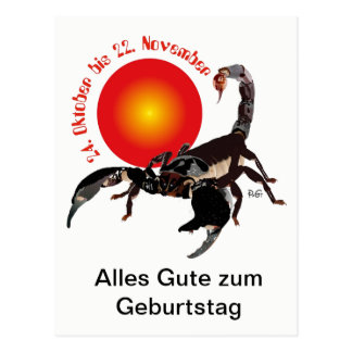 Skorpion Sternzeichen Postkarte