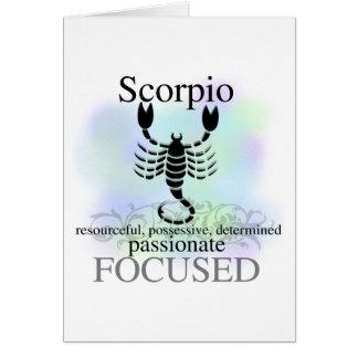 Skorpion über Sie Grußkarte
