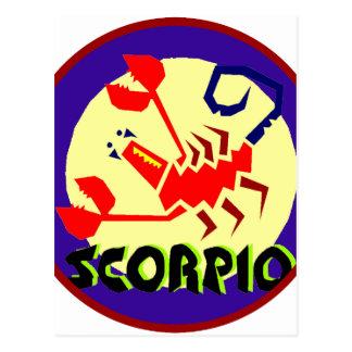Skorpions-Abzeichen Postkarte
