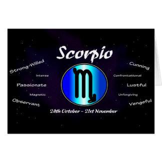 Skorpions-Geburtstags-Karte Karte