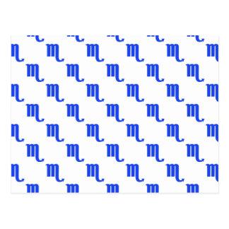 Skorpions-Muster-Blau Postkarte