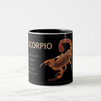 Skorpions-/Skorpions-Tierkreis-Tasse mit Zweifarbige Tasse