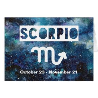 Skorpions-Tierkreis-blauer Karte