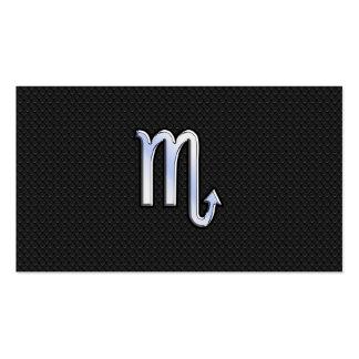 Skorpions-Tierkreischrom mag schwarze Visitenkarten