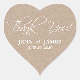 Skript danken Ihnen Gastgeschenk Herz-Aufkleber