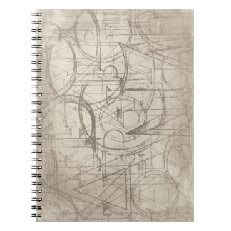 Skript-Entwurfs-Notizbuch Spiral Notizblock