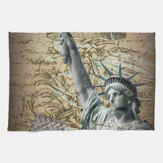 Skript-patriotisches New- Yorkfreiheitsstatue Handtuch