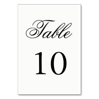 Skript-Tischnummer Karte