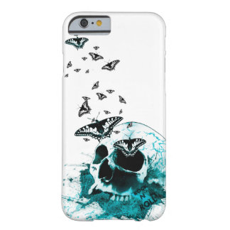 Skull and butterfly design blue edition phone case