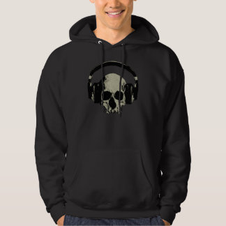 skull with headphones hoodie