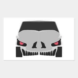 Skulled Auto Rechteckiger Aufkleber
