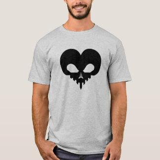 SkullHeart-Schwarzes T-Shirt