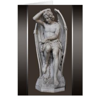 Skulptur CC0930 Guillaume Geefs Lucifer klein Mitteilungskarte