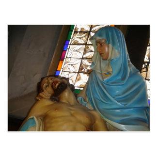 Skulptur des Pieta Postkarte