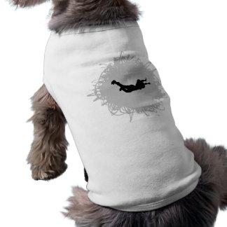 Skydiving Gekritzel-Art T-Shirt
