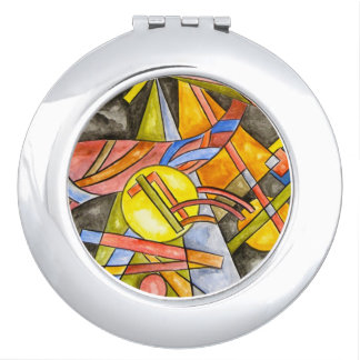 Skyjumper-Hand gemaltes abstraktes geometrisches Taschenspiegel